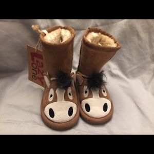 Toddler LAZY ONE faux suede donkey boots Sz 4/5